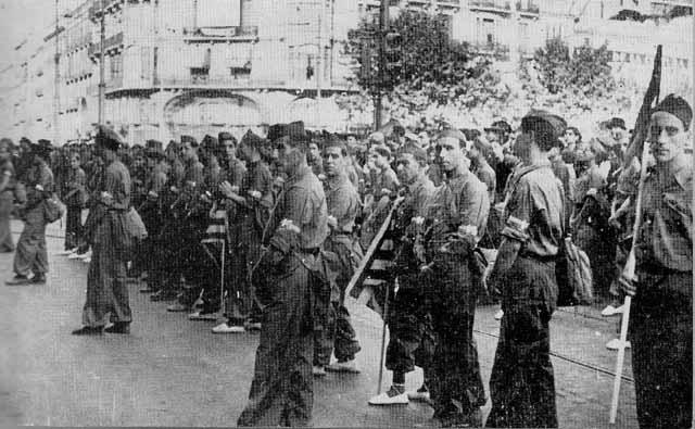 Reemplazo republicano destinado al frente de Teruel
