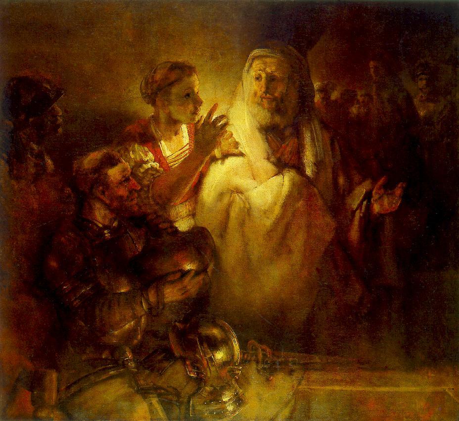 Image result for peter's denial rembrandt