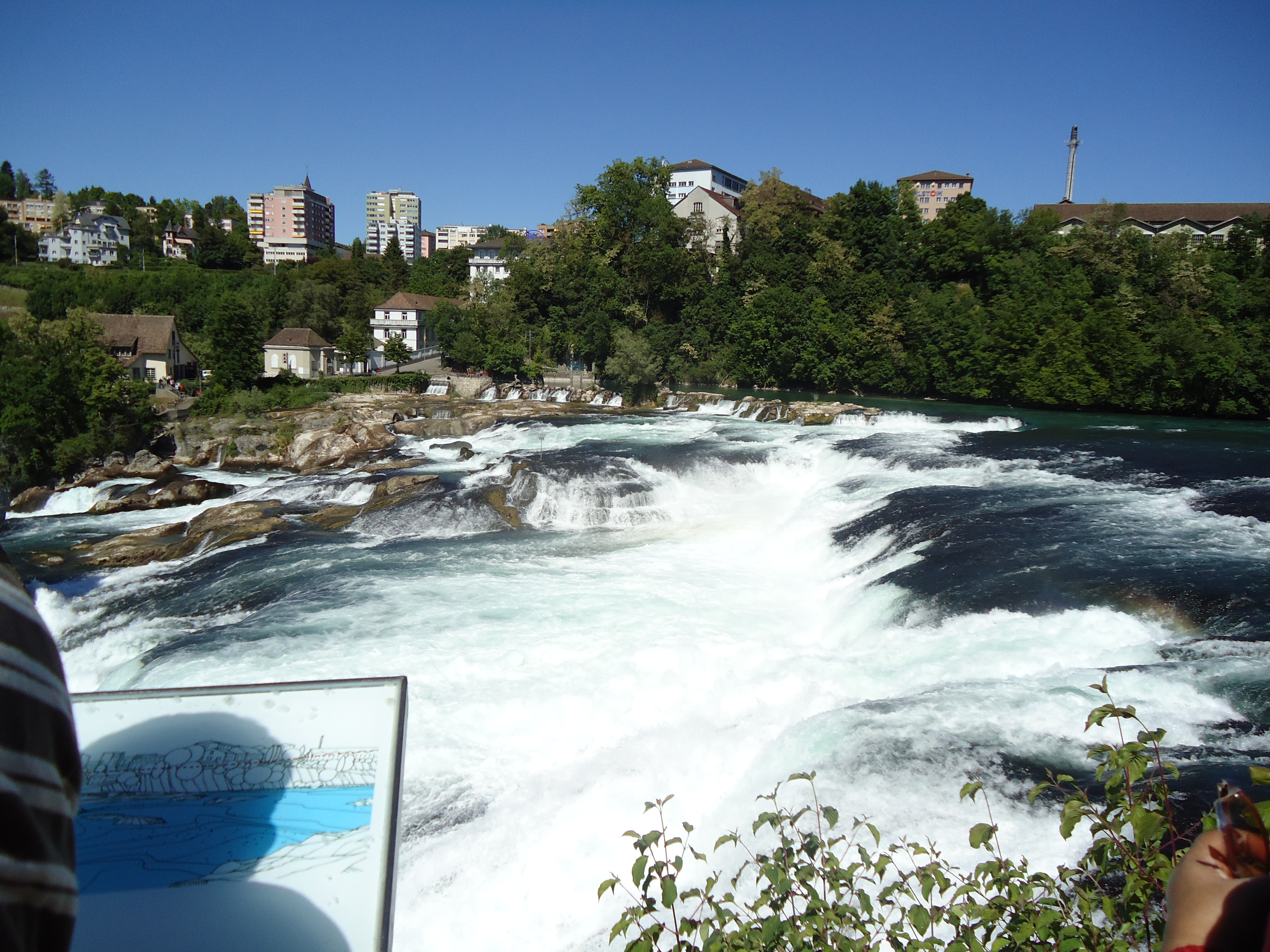FileRhine Fallas Germany Swiss Border Panoramiojpg Wikimedia - Swiss river to the rhine