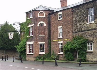 The Wynnstay Arms Hotel, Ruabon, where the constitution of the FAW was agreed upon. Rhiwabon wynnstay arms.jpg