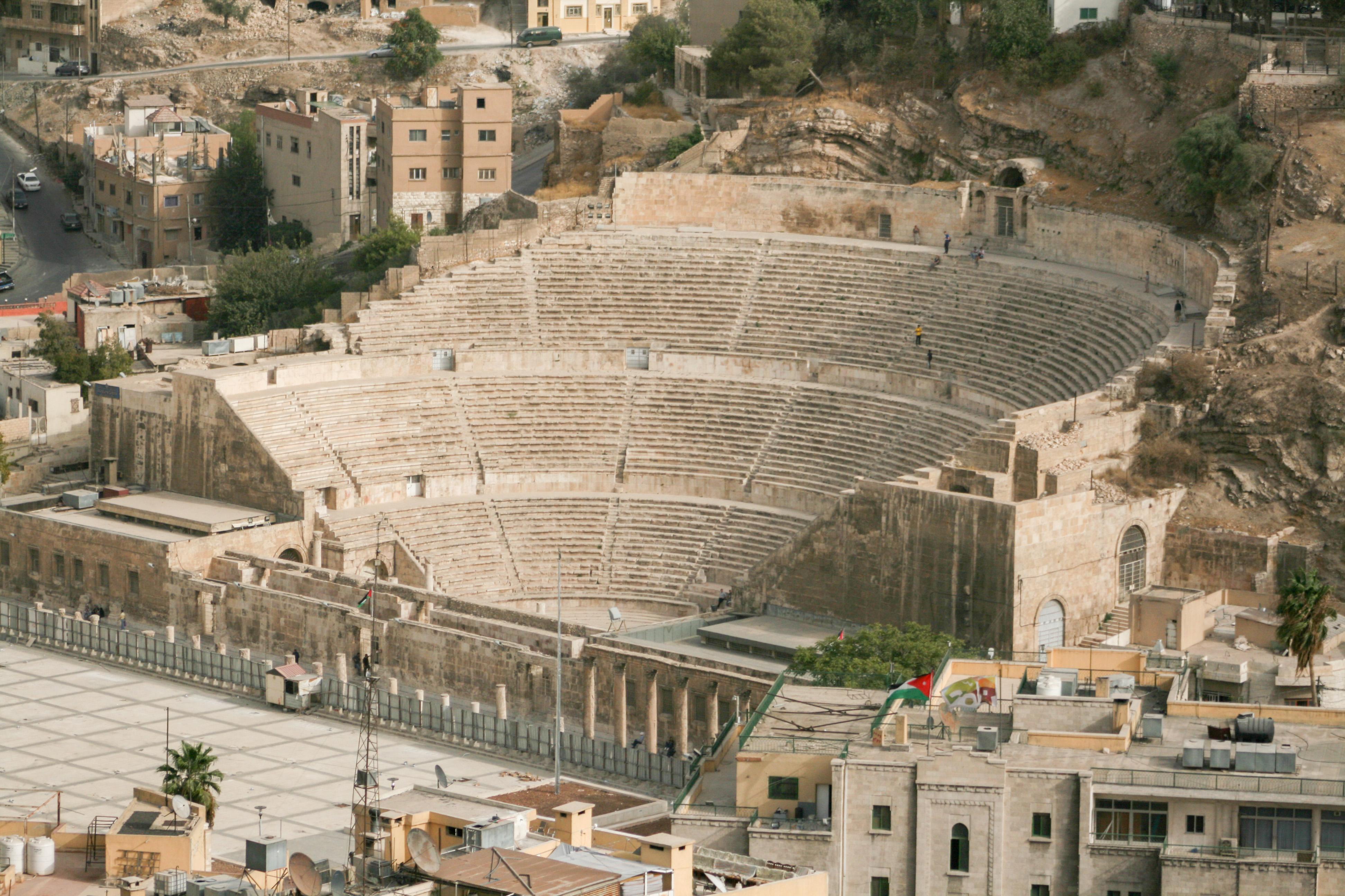 File:Roman theater in Amman, Jordan1.jpg - Wikimedia Commons