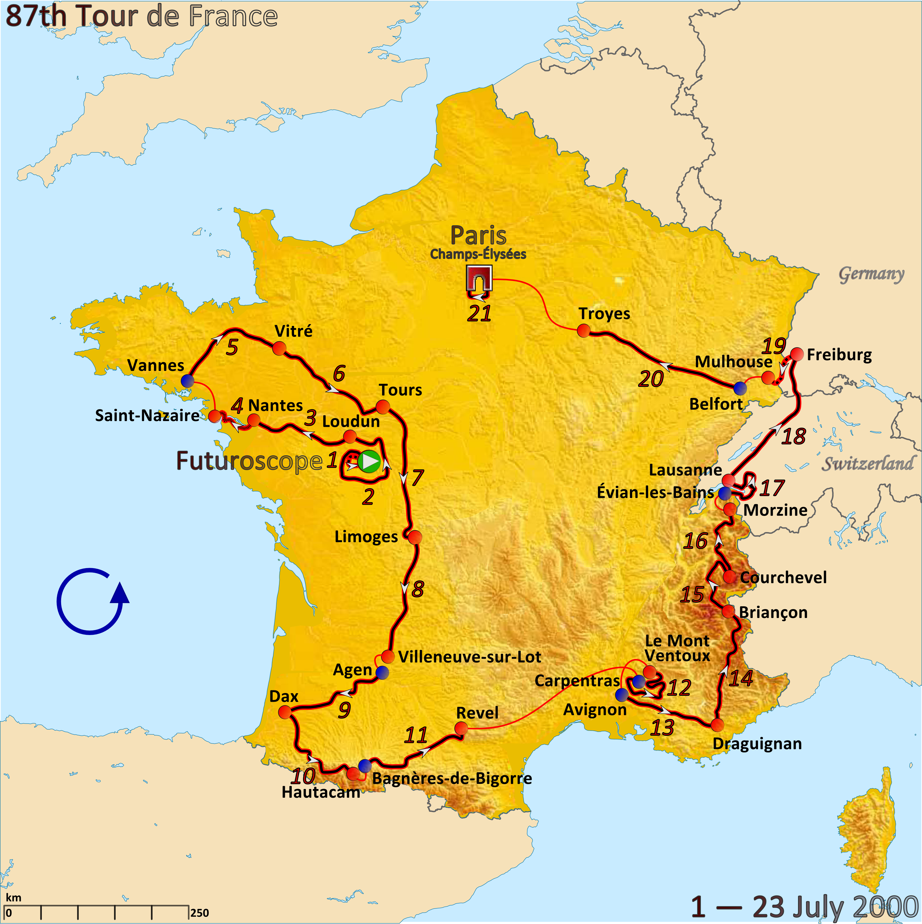 FileRoute of the 2000 Tour de Francepng Wikimedia Commons
