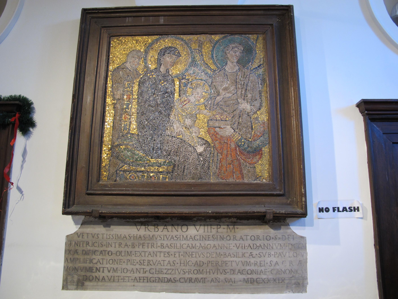 file santa maria in cosmedin mosaico in ex sagrestia con epifania