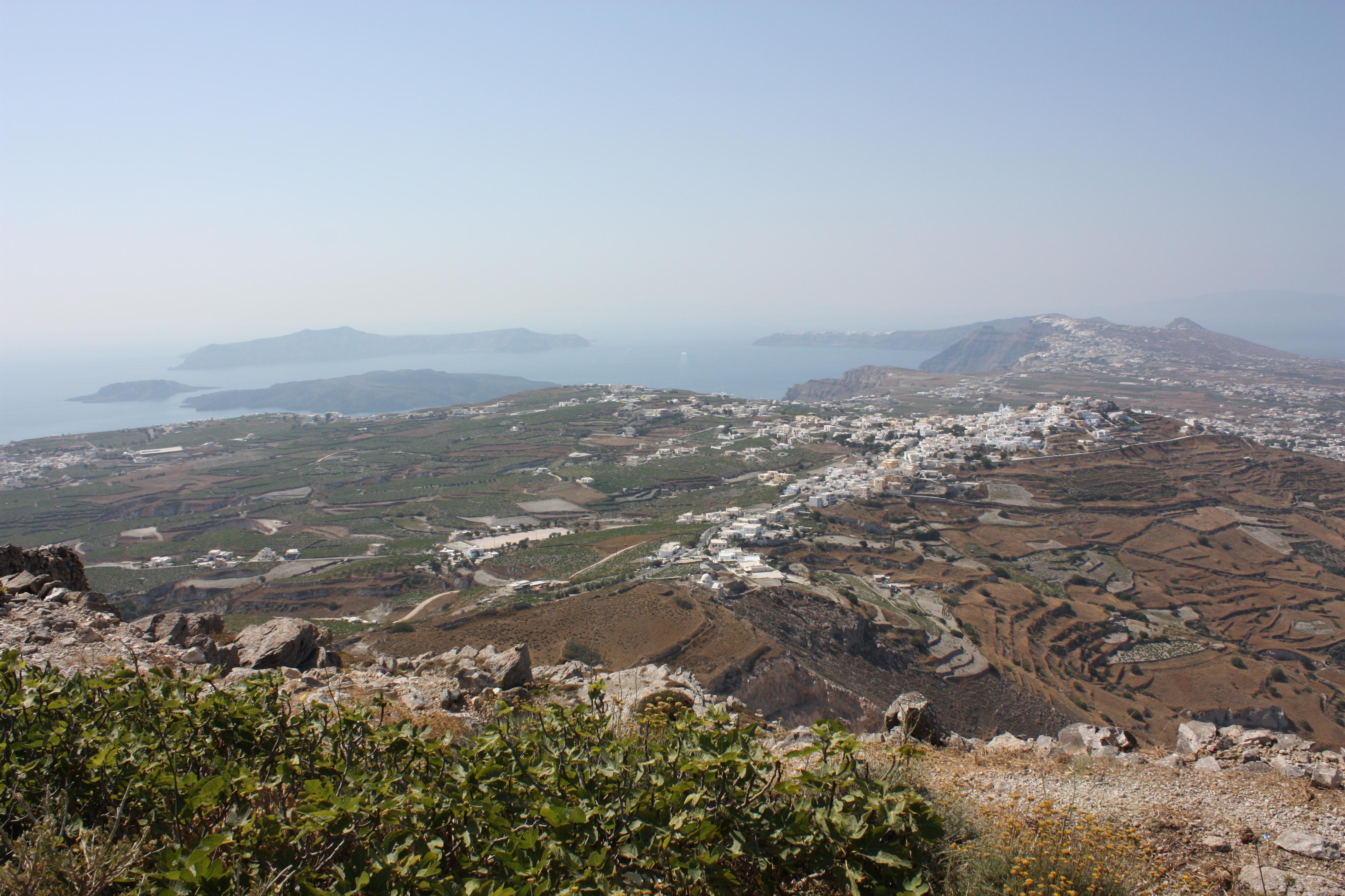 File:Santorini, view from Mt Profitis Ilias (6244436803 ...
