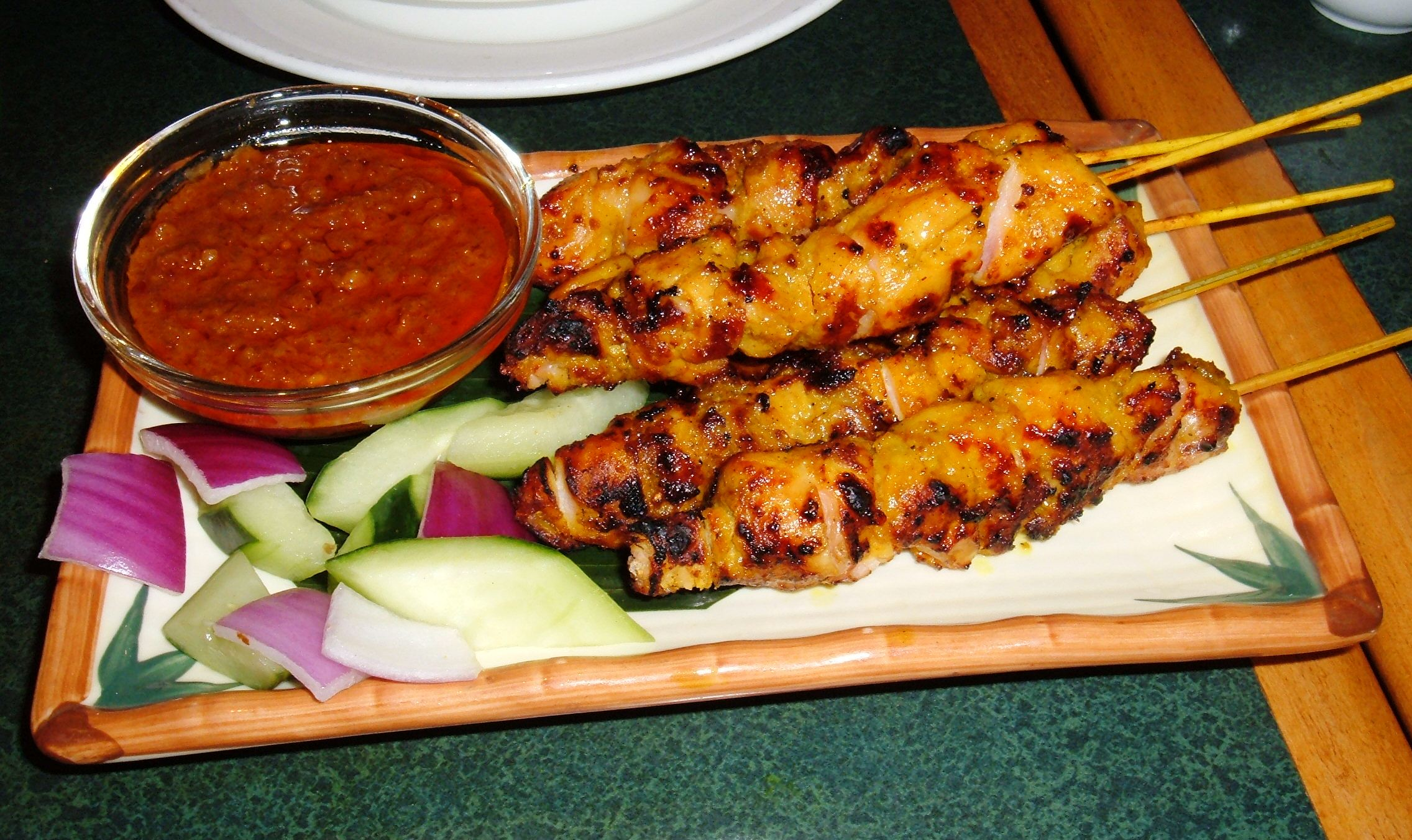 pizza creamy chicken satay chicken satay with peanut cilantro coleslaw ...