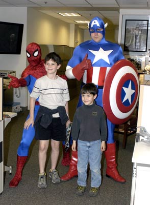 Spiderman and captamerica and boys