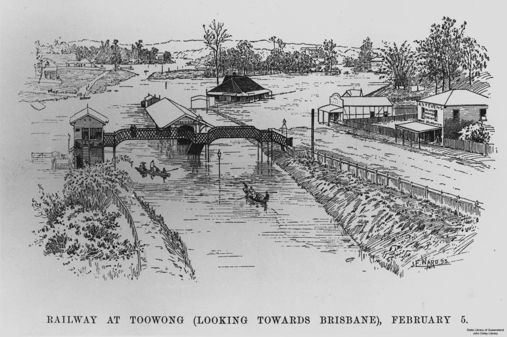 File:StateLibQld 1 127399 Sketch of the flood at Toowong ...