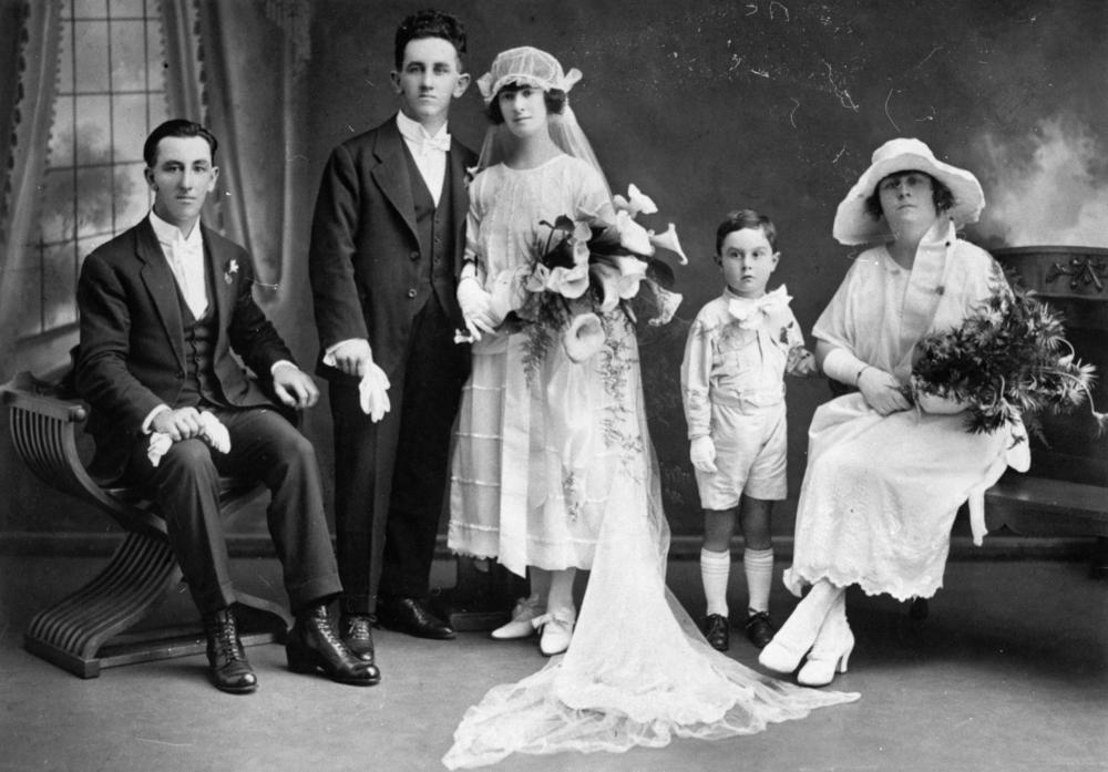 Statelibqld Thelma Margulis And George W Hackett On Their Wedding Day C