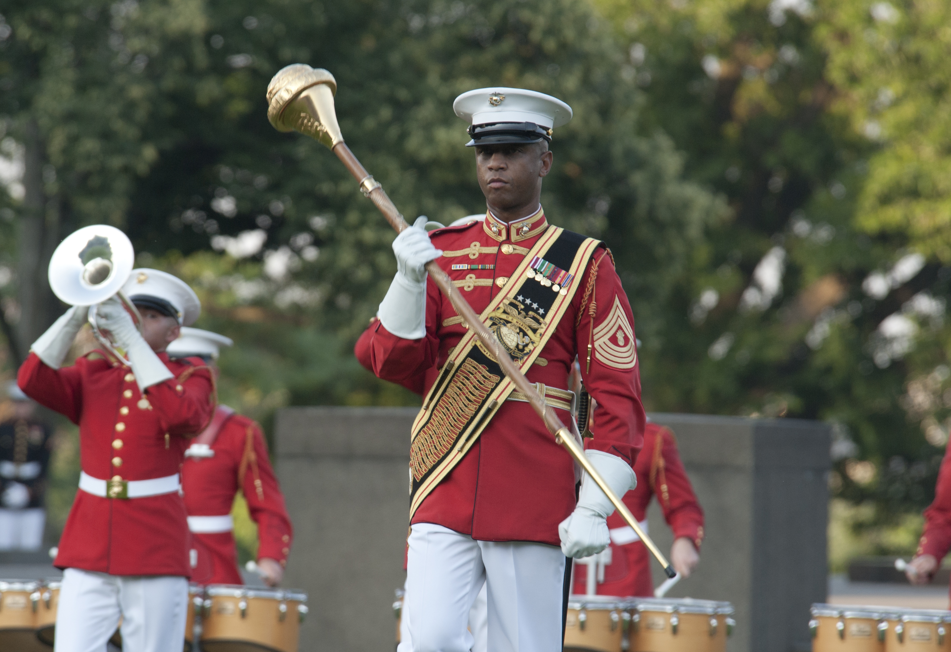 File:The drum major of the U.S. Marine Corps Drum and ...