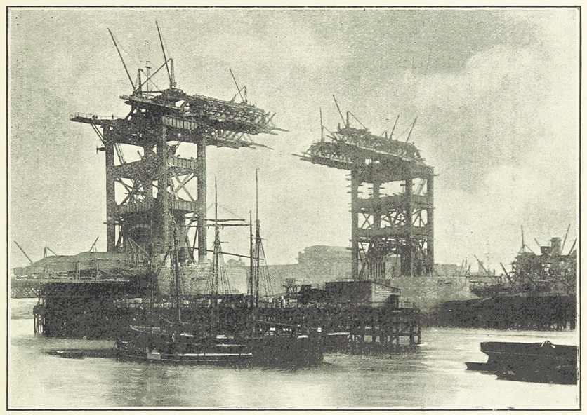 filetower bridge under construction from history of the
