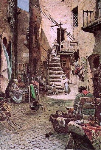 ציור של הרובע היהודי