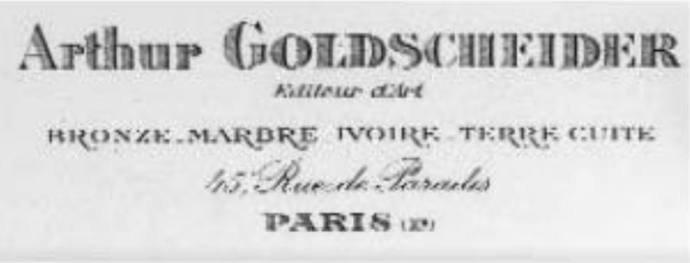 Datei Visitenkarte Arthur Goldscheider Jpg Wikipedia