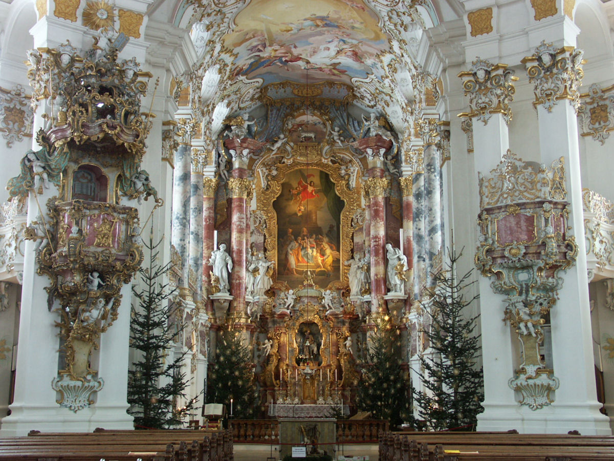 The Main Altar Of A Church