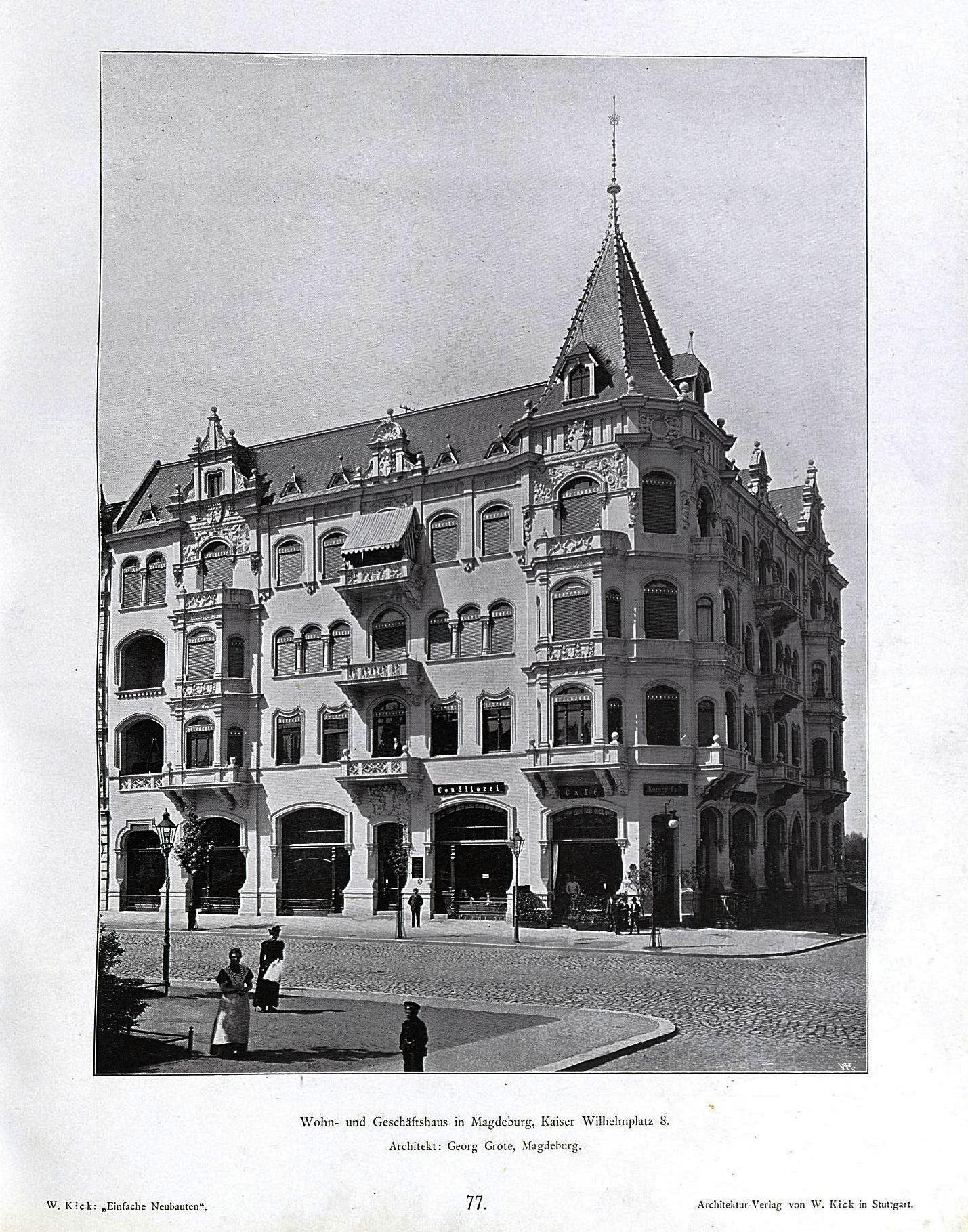 Architekt Magdeburg file wilhelm kick einfache neubauten stuttgart 1890 wohn und