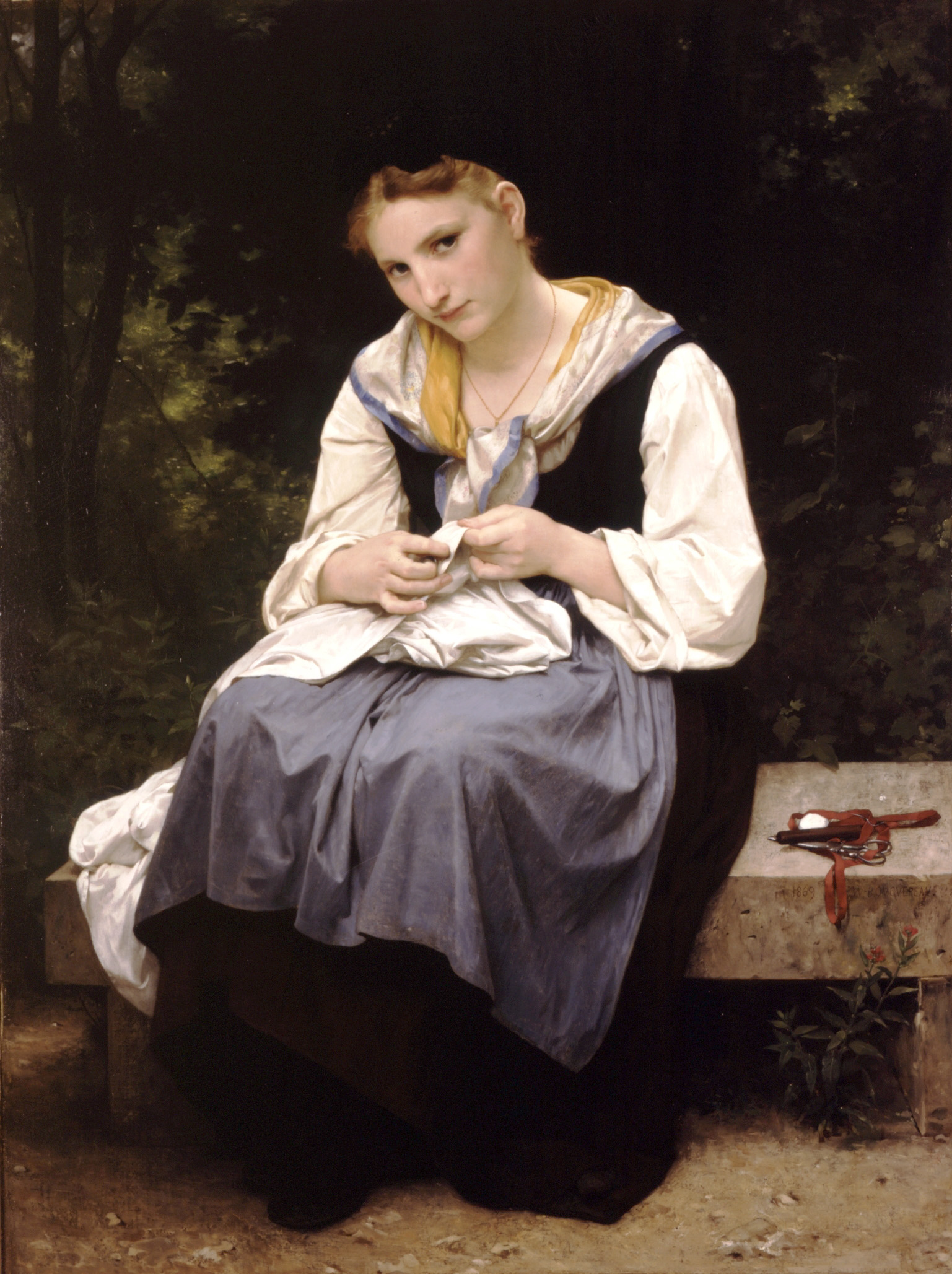 La  FEMME  dans  l' ART William-Adolphe_Bouguereau_(1825-1905)_-_Young_Worker_(1869)