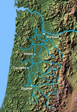 Tributaries of the Willamette River