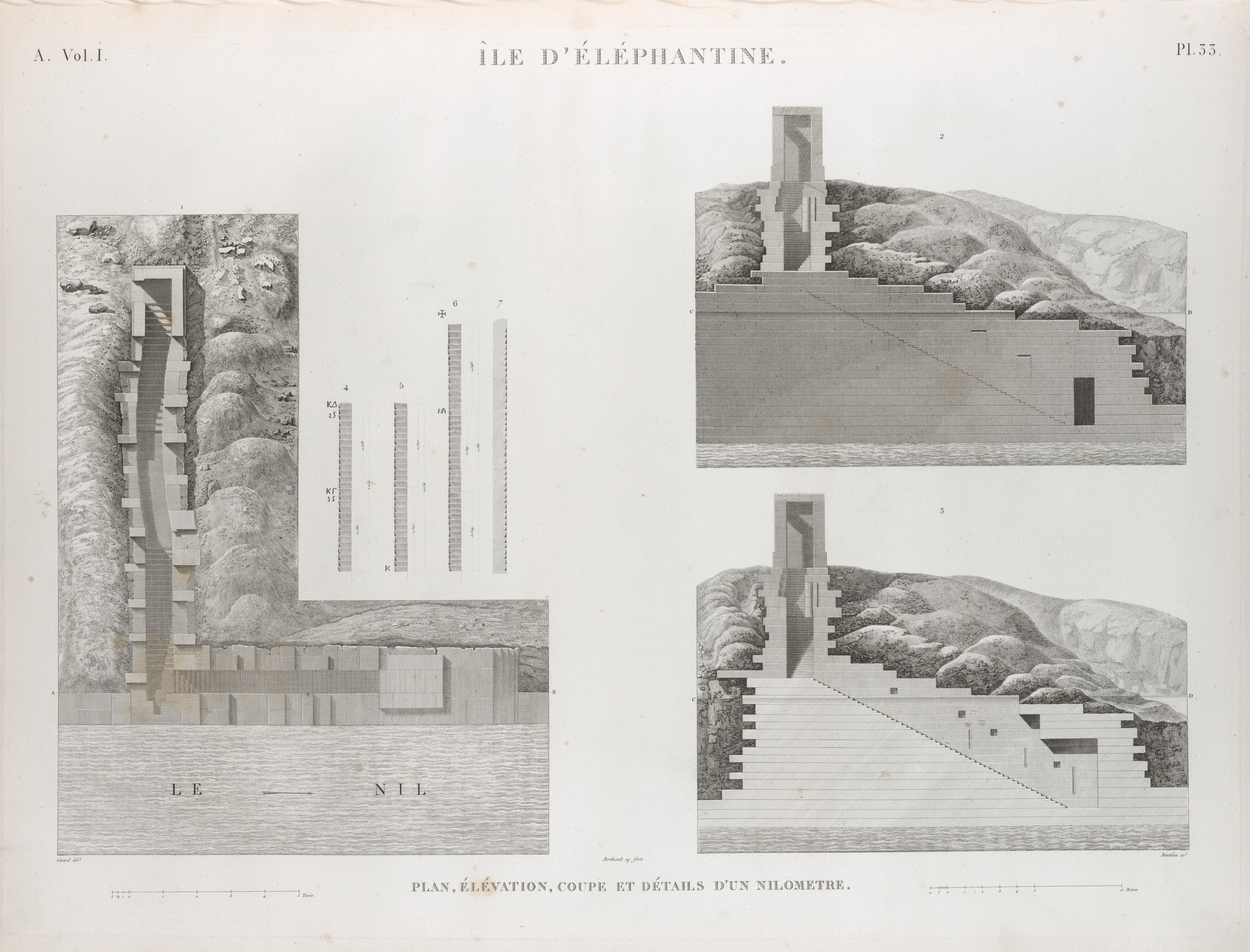 Elevation D Un Plan : File Île d Éléphantine plan élévation coupe et détails