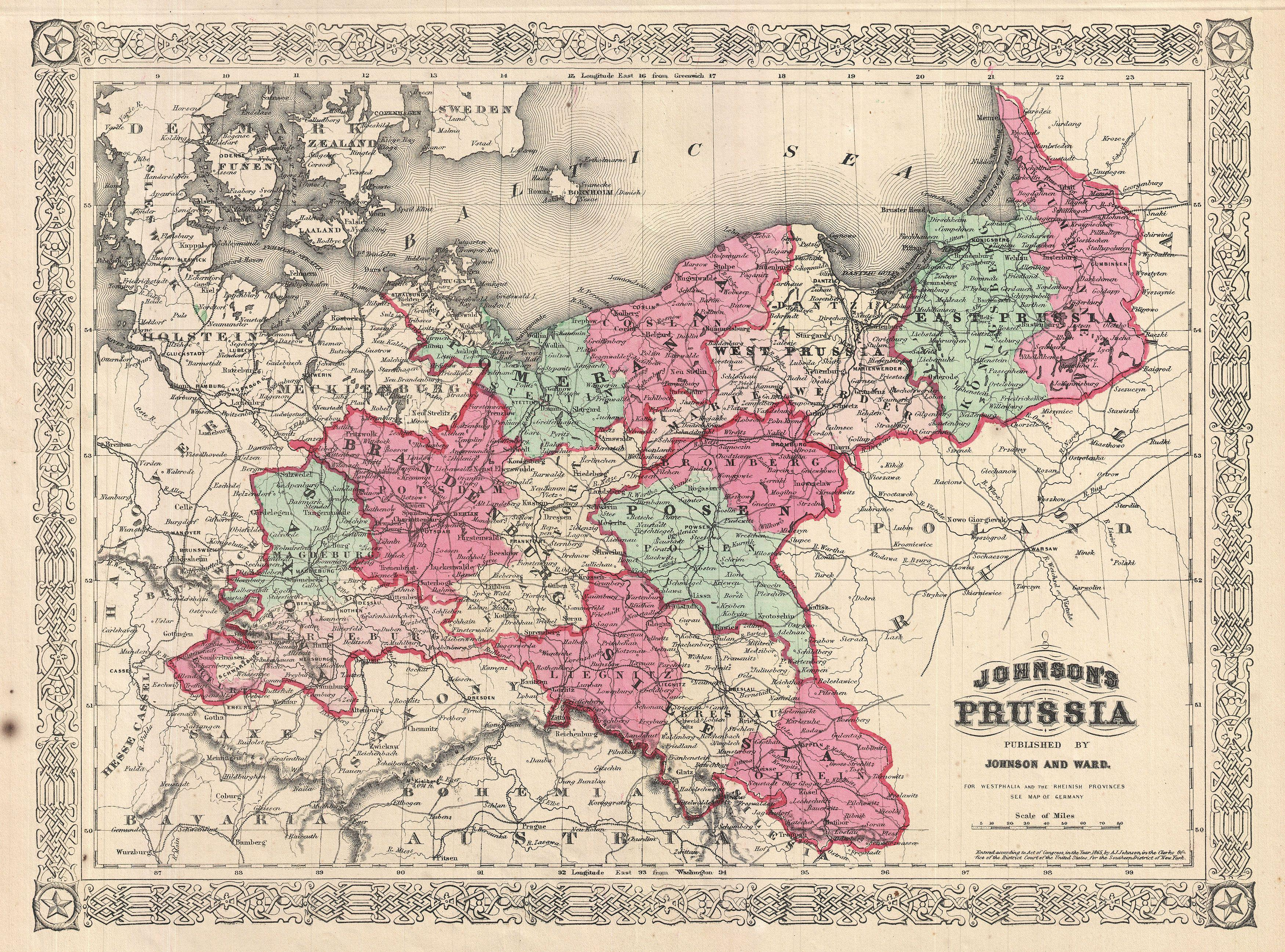 File:1866 Johnson Map of Prussia, Germany   Geographicus   Prussia