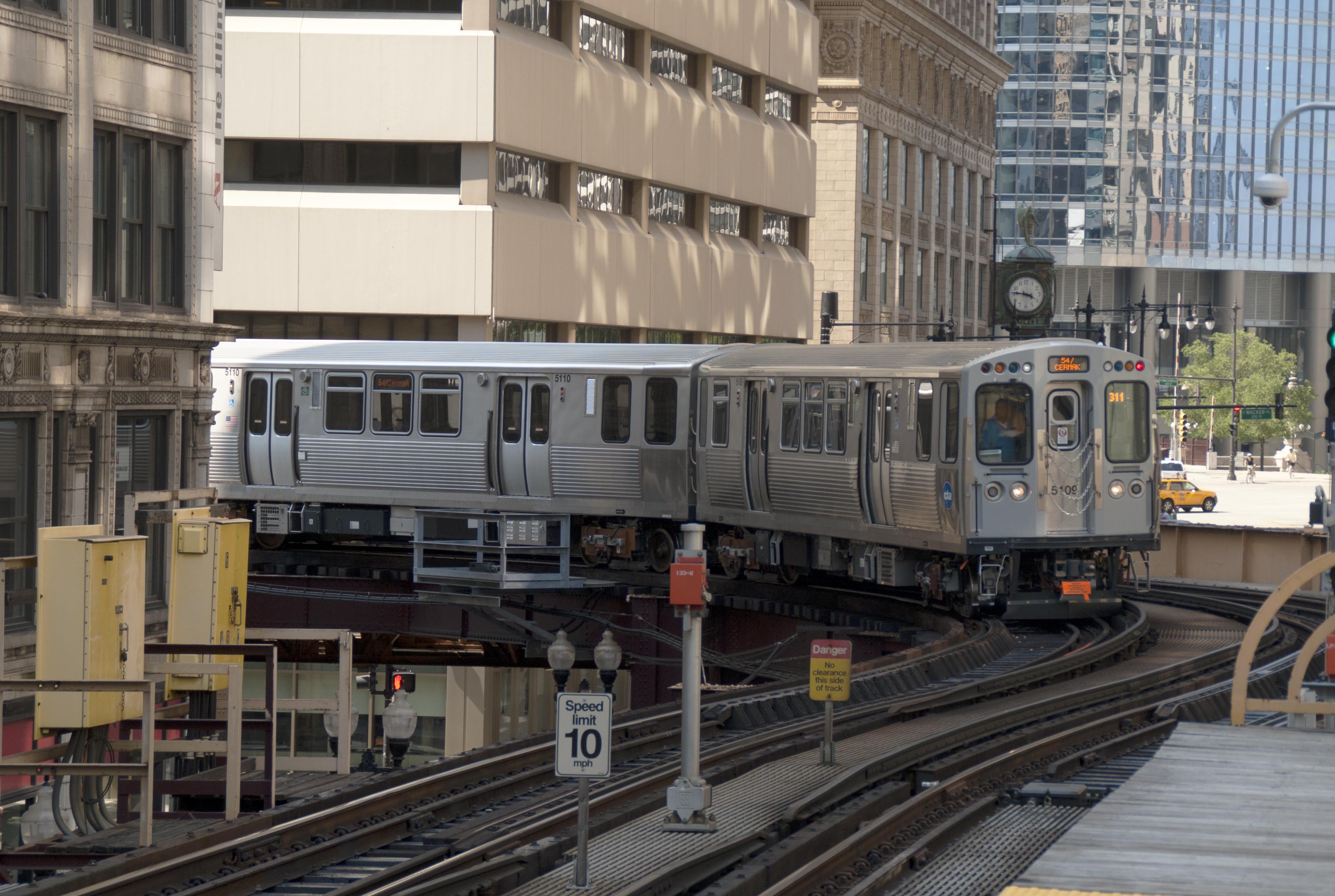 Cta Subway Map Chicago.Chicago L Wikipedia