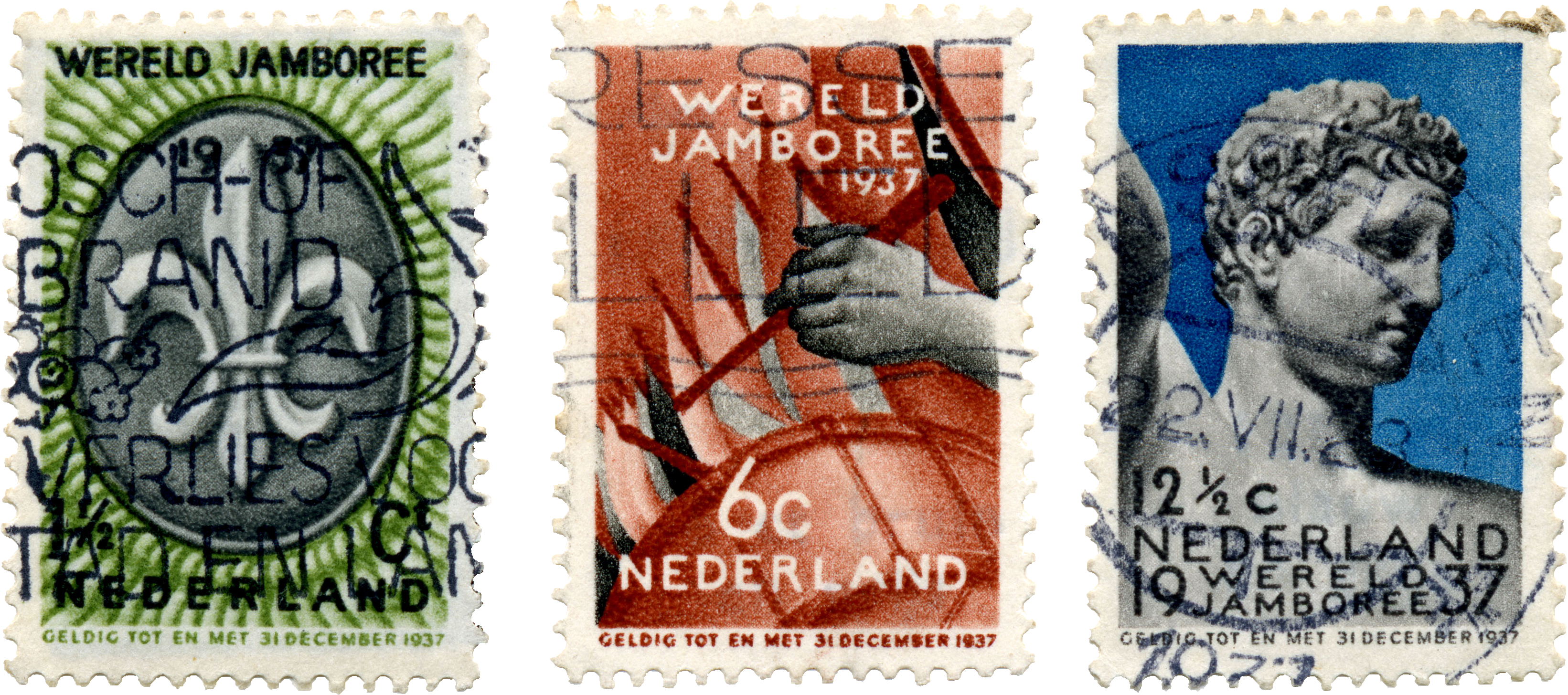 File5th World Scout Jamboree Netherlands Stamps 1937