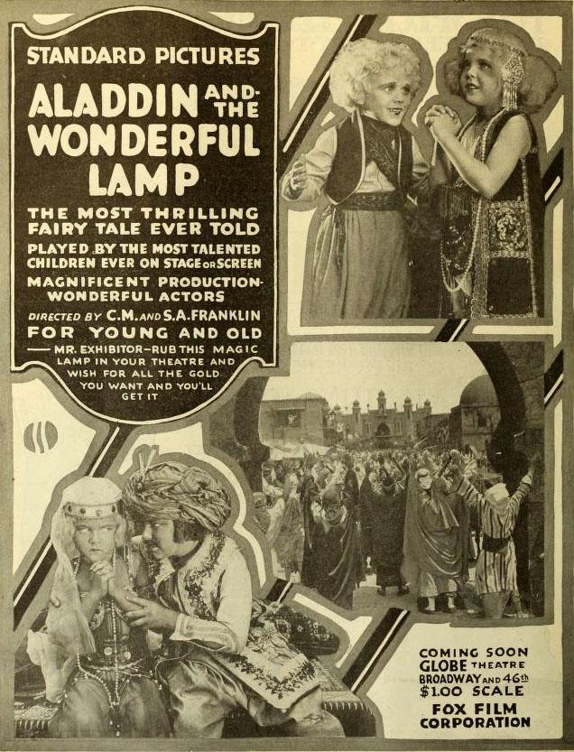 Filmografia su Aladino e la lampada magica …