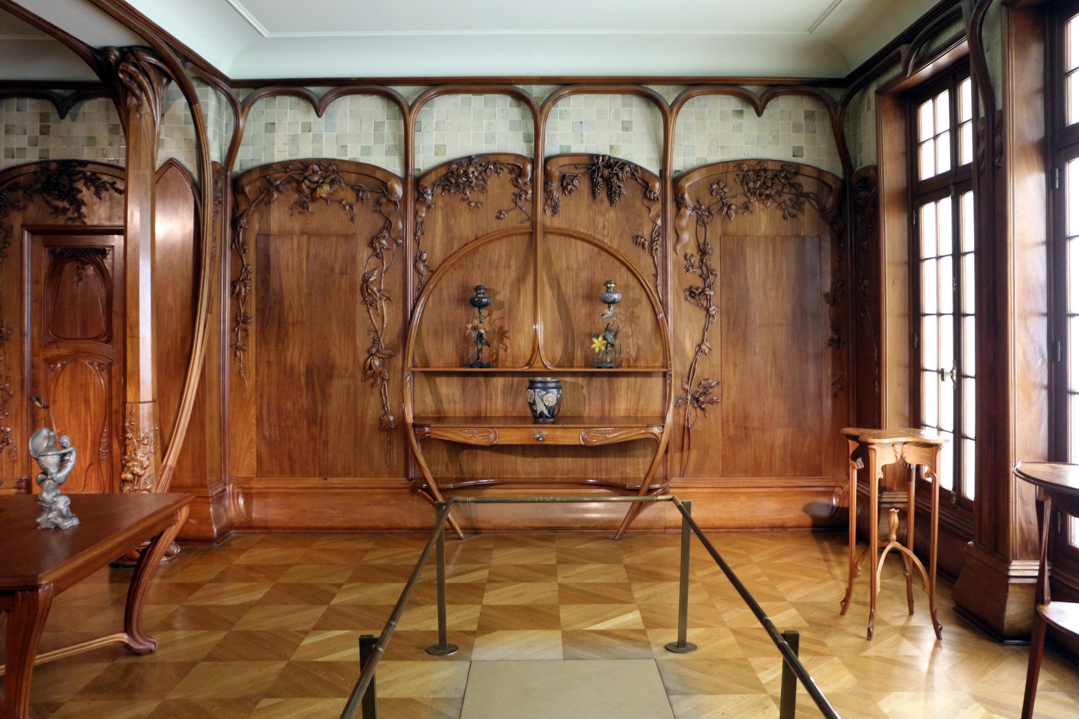 File:Alexandre charpentier, boiserie della sala da pranzo della ...