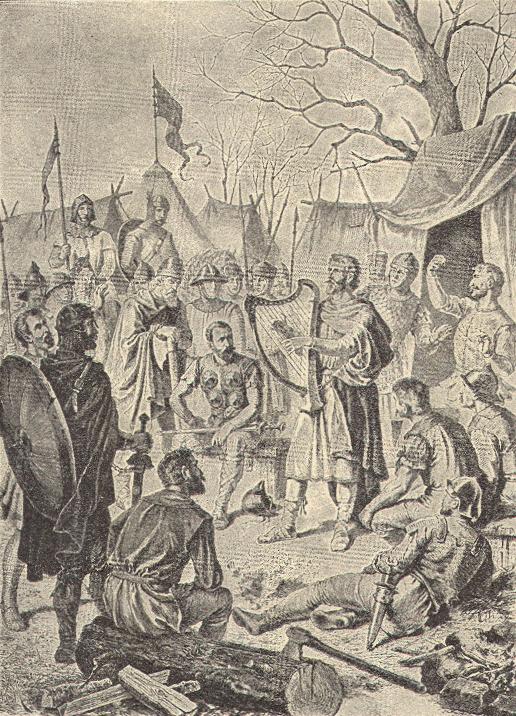 ডেনিশ শিবিরে ছদ্মবেশে সেঃ রাজা আলফ্রেড