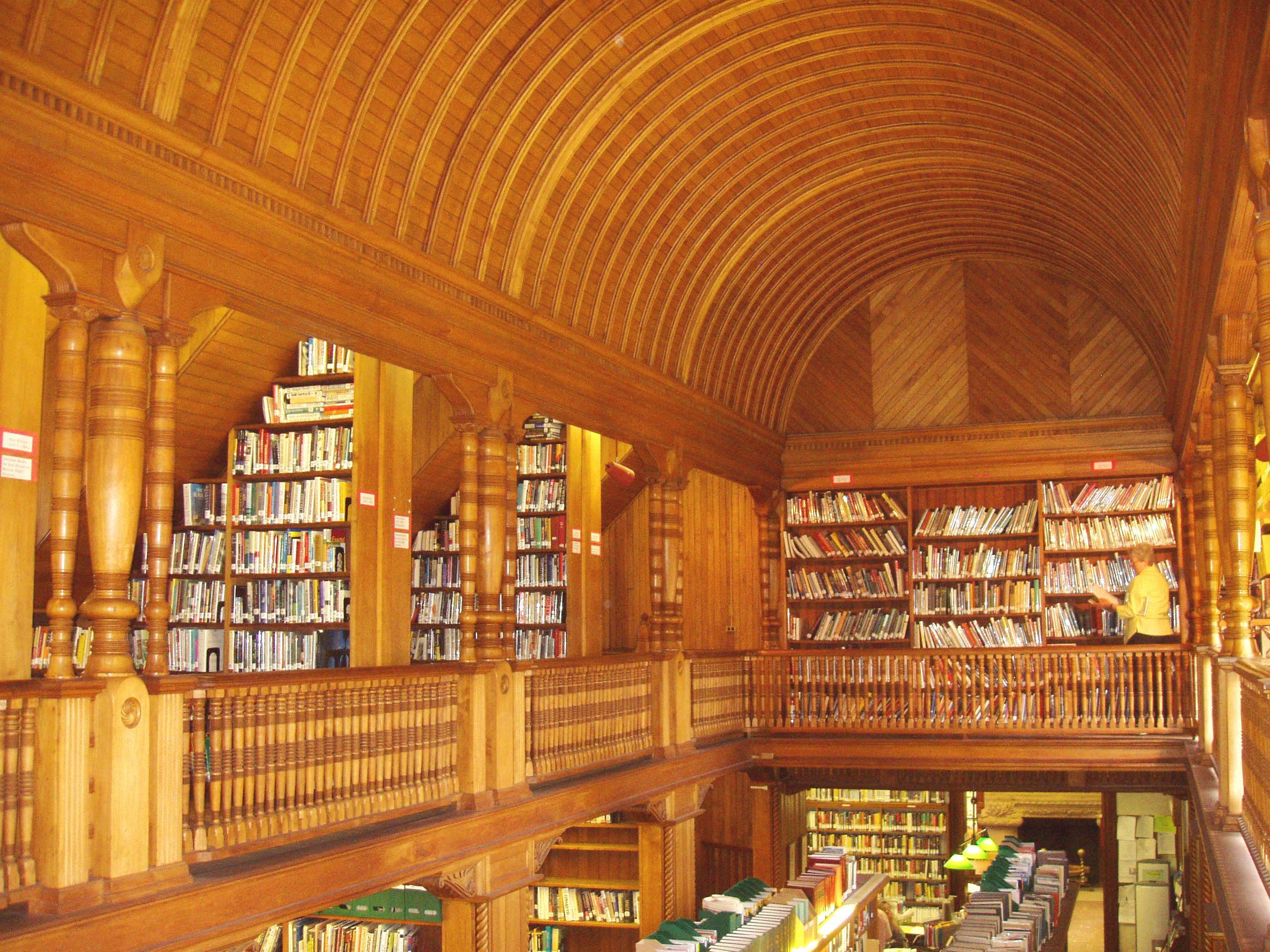 Ames Free Library (North Easton, MA) - interior stacks.JPG