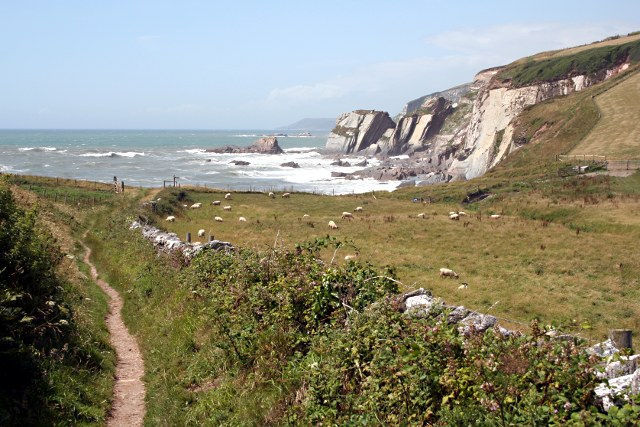 File:Approaching Ayrmer Cove along Smugglers Lane - geograph.org.uk - 1402161.jpg