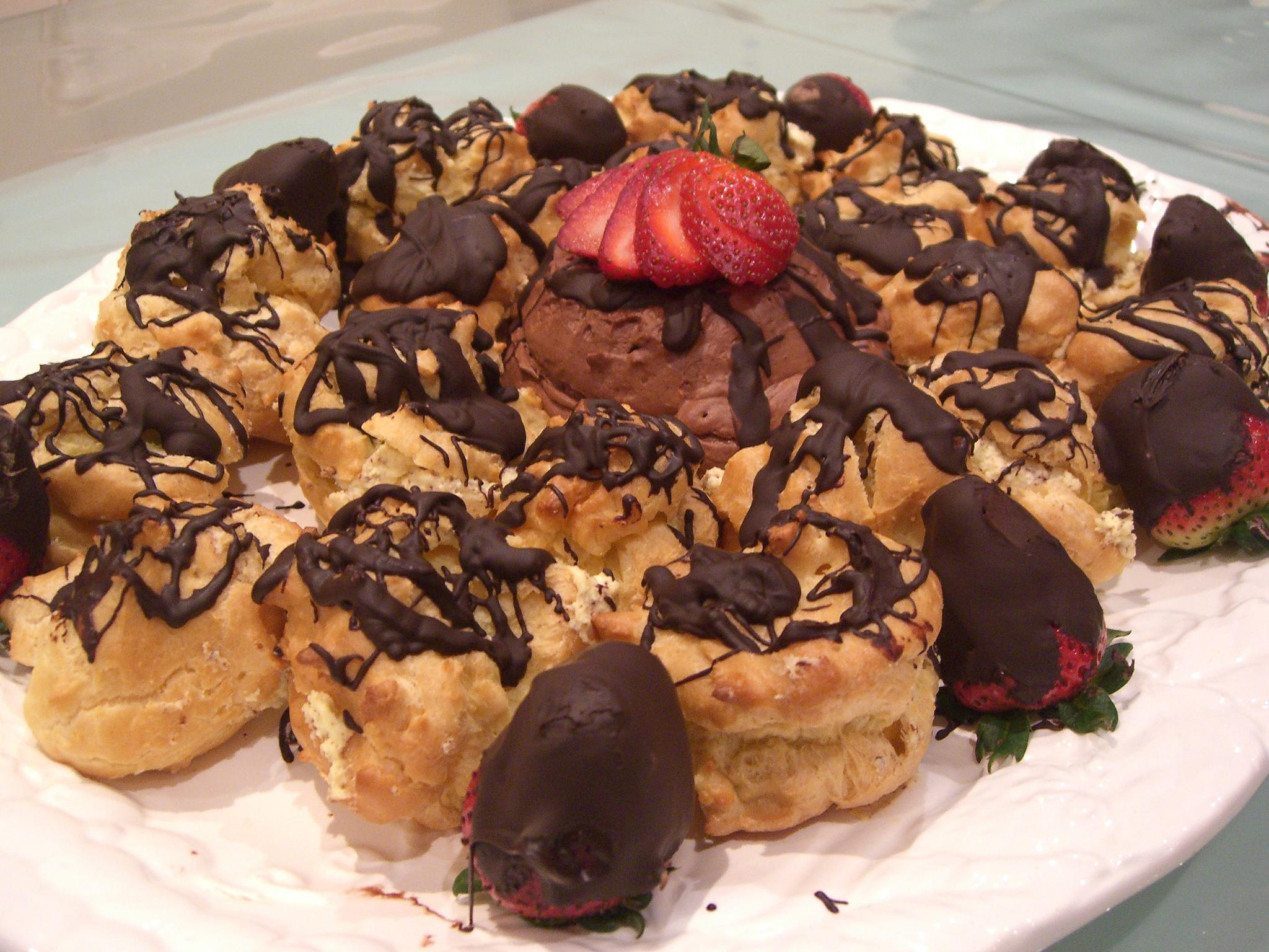 File Aunt Linda S Profiteroles And Chocolate Mousse With