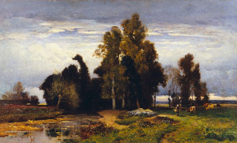 Ca s'est passé en octobre ! Barbizon_Landscape_by_Jules_Dupr%C3%A9%2C_Bass_Museum_of_Art