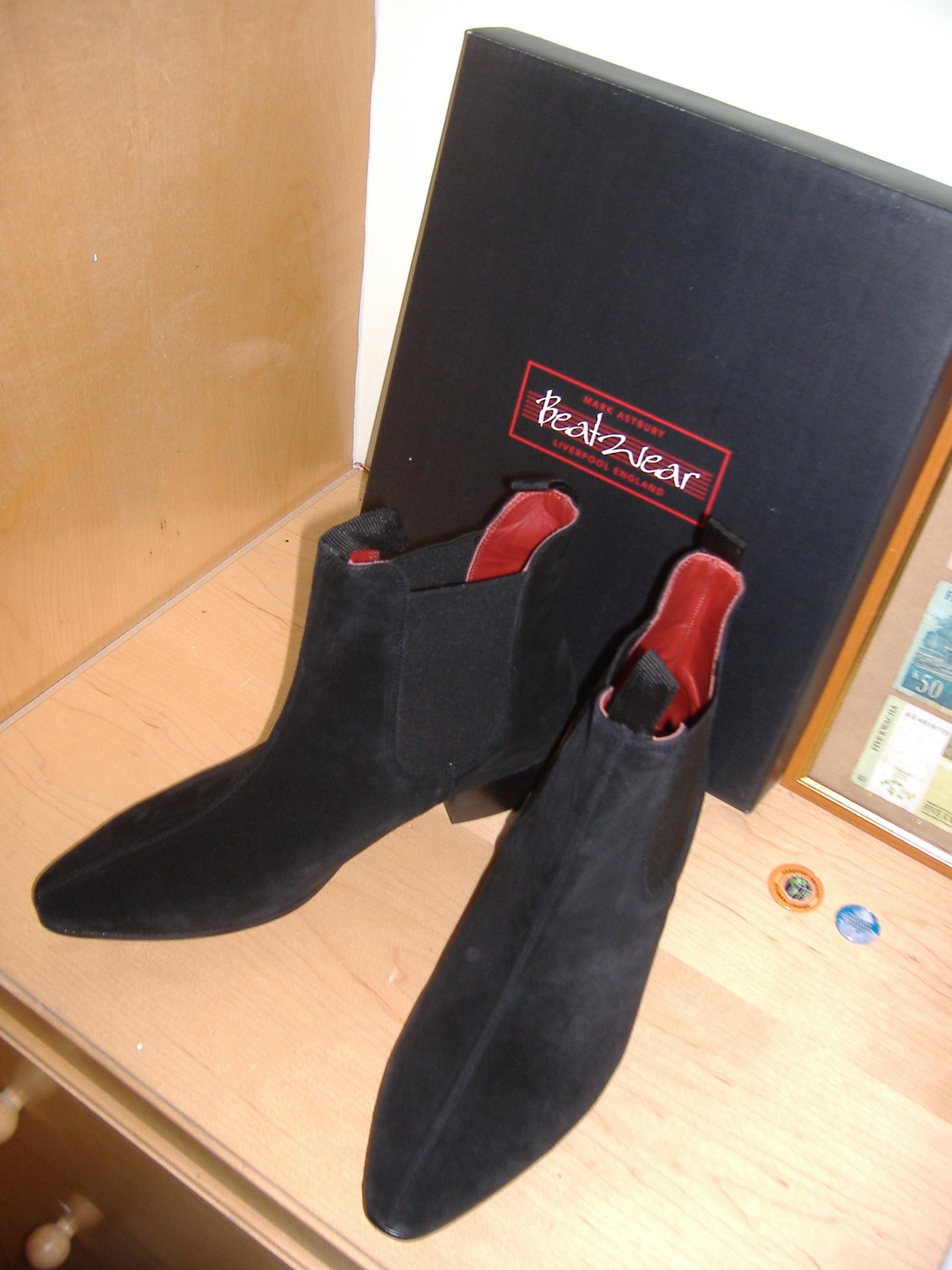 Black Suede Shoe Boots Uk