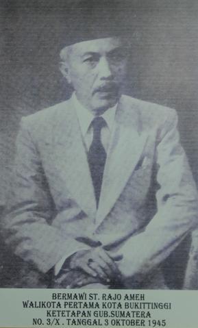 File Bermawi St Rajo Ameh Mayor Of Bukittinggi 1945 Jpg Wikimedia Commons