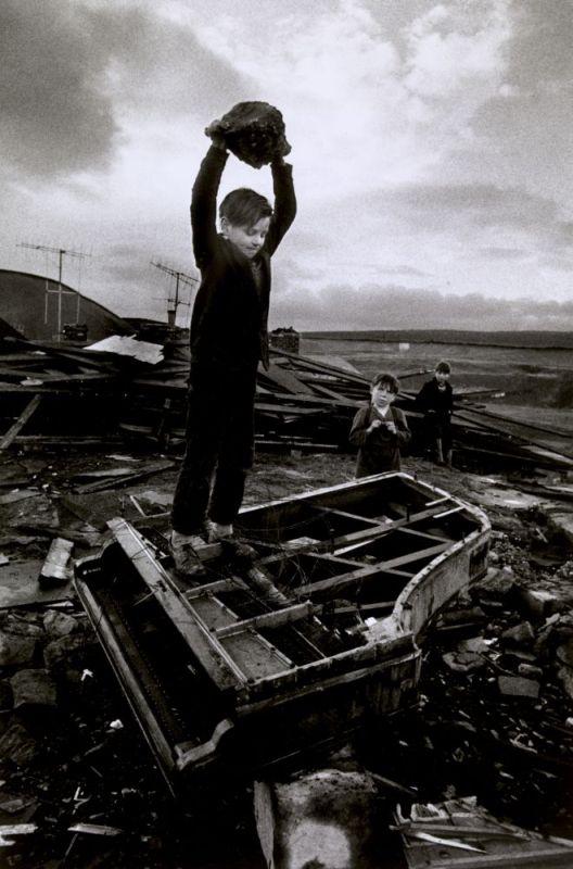 Boy Destroying Piano