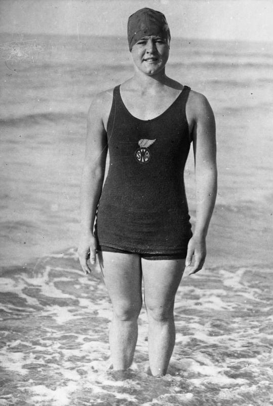 Gertrude Ederle Swimming The English Channel Gertrude Ederle   People said