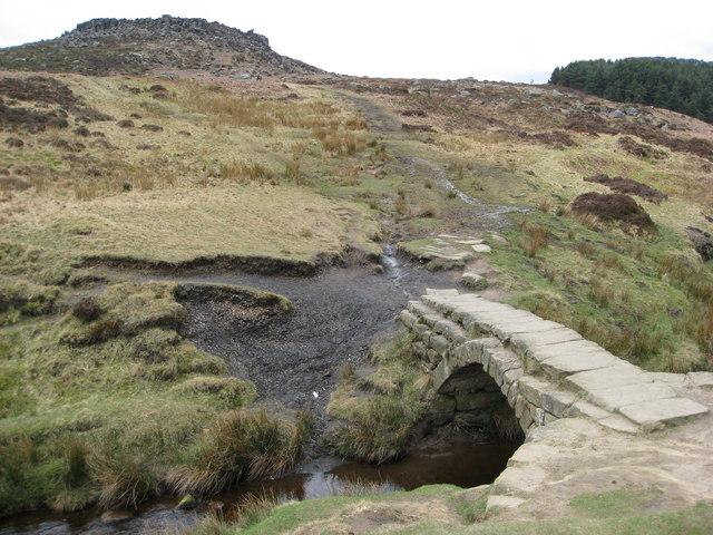 Burbage Brook and Packhorse Bridge
