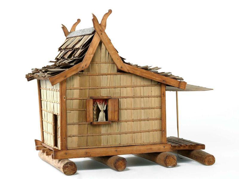 File:collectie tropenmuseum model van een drijvende winkel met