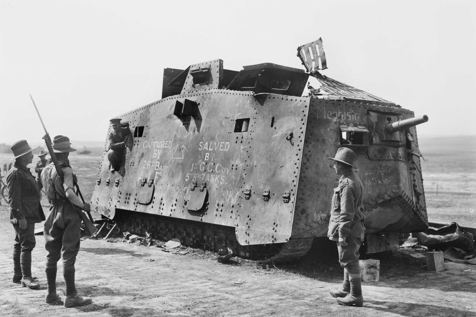 File:Captured A7V Tank.png - Wikimedia Commons