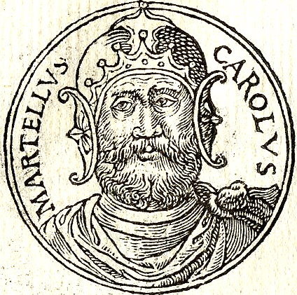 "Charles Martel depicted in the French book ""Promptuarii Iconum Insigniorum"" by Guillaume Rouille, published in 1553 Carolus-Martell.jpg"