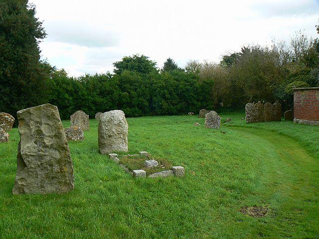 File:Churchyard, St Nicholas' church, Berwick Bassett - geograph.org.uk - 1010561.jpg
