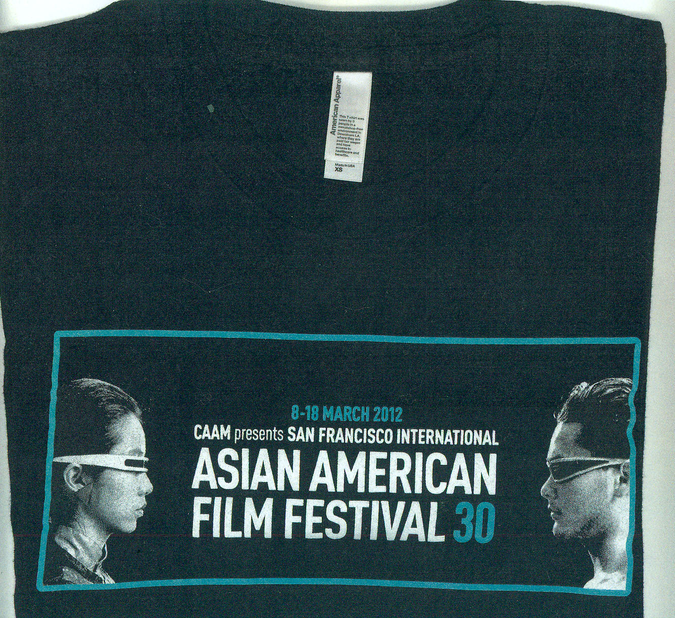 Commemorative T-shirt made for the 30th anniversary of the San Francisco International Asian American Film Festival in 2012. The image shows actors [[Tiana Alexandra