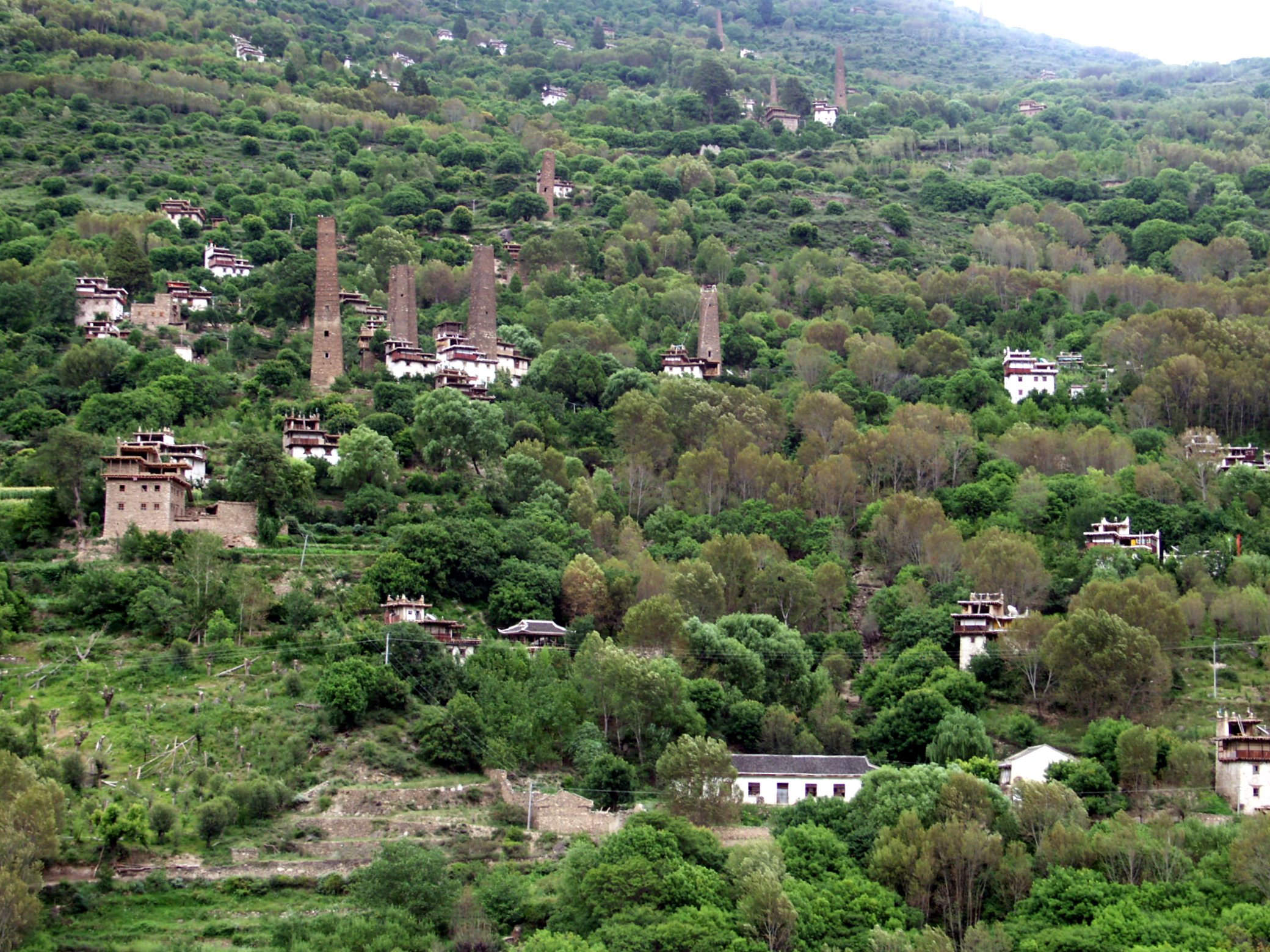 towers in Danba, Sichuan