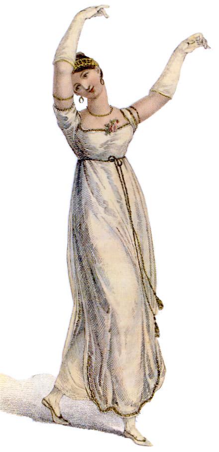 Empire dancing dress, 1809