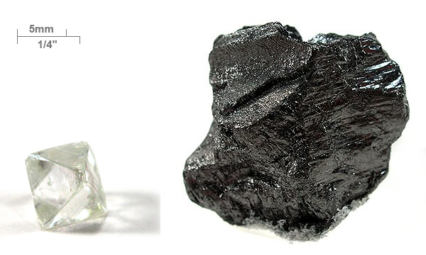 Ficheiro:Diamond-and-graphite-with-scale.jpg