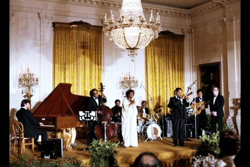 File:Dizzy Gillespie and Sarah Vaughan Perform at the White House.jpg