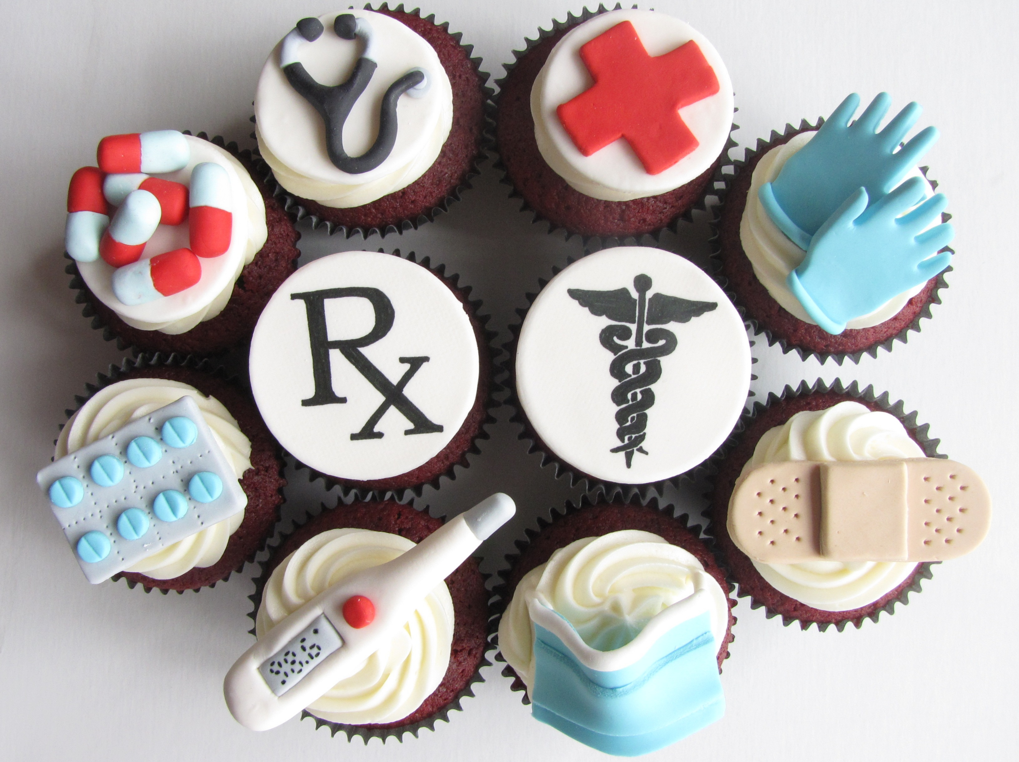 Doctor_Themed_Cupcakes_(4576733748) birthday cakes for male doctors 6 on birthday cakes for male doctors