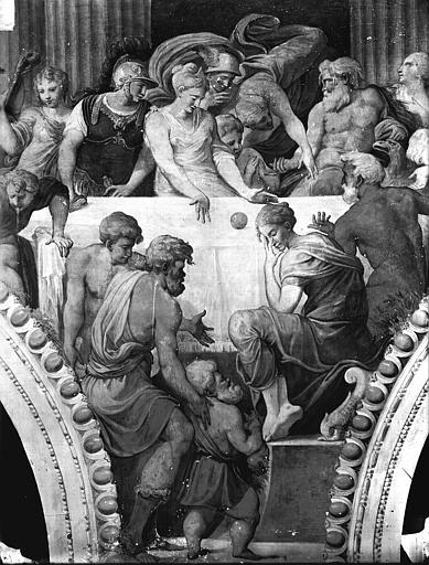 File:Domaine national, château - Peintures murales de la galerie Henri II, partie centrale du Banquet - Fontainebleau - Médiathèque de l'architecture et du patrimoine - APMH00027943.jpg