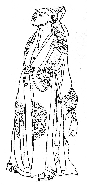 Li He, as depicted in the 1743 book ''Wanxiaotang Zhuzhuang Huazhuan'' (晩笑堂竹荘畫傳).