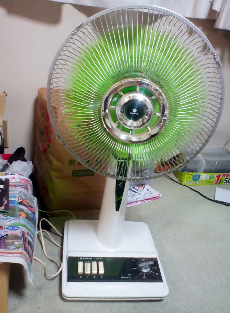 Fileef C30n Electric Fan Which We Can Understand When Sanyo Electrics Manufactured