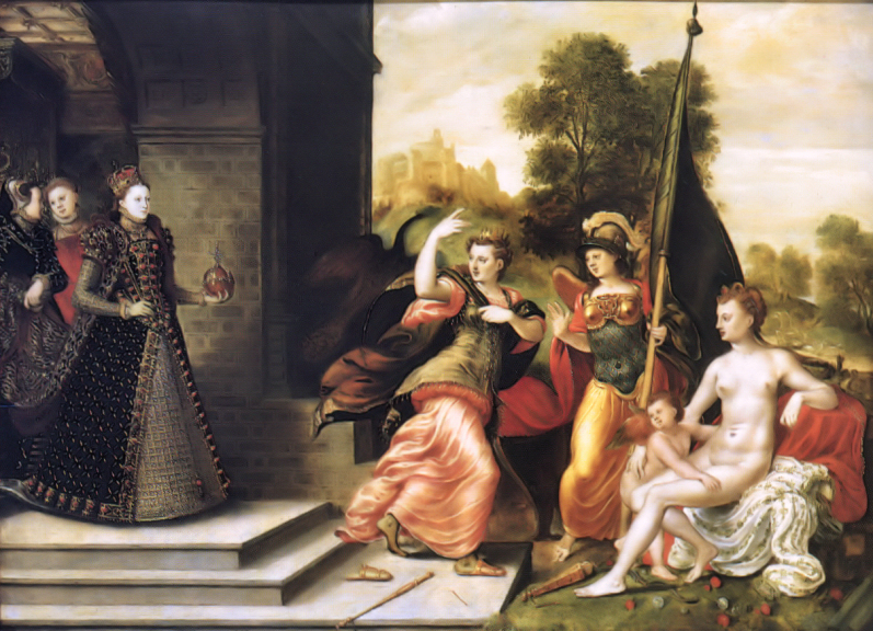 Eworth Elizabeth I and the Three Goddesses 1569